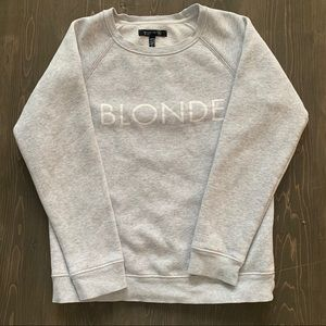 Brunette The Label - BLONDE Grey Girls Crewneck